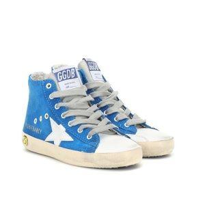 NWOT GOLDEN GOOSE DELUXE BRAND Kids Francy Sneakers In Blue 33
